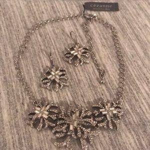 CEZANNE  sensitive skin combo earrings / necklace